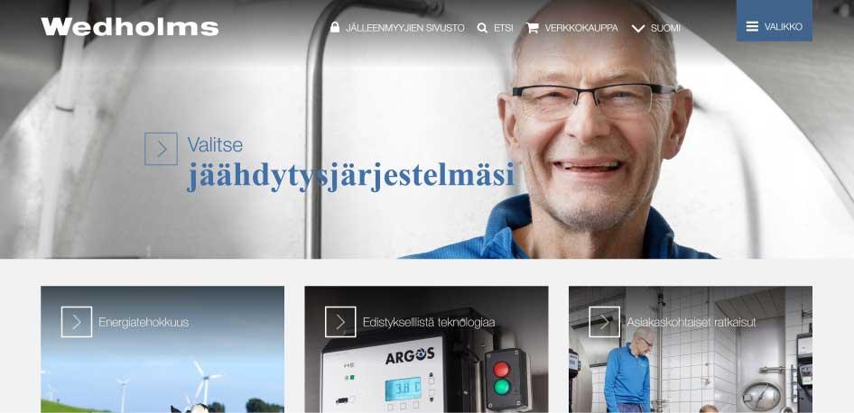 Wedholmsin kotisivut nyt myös suomeksi!